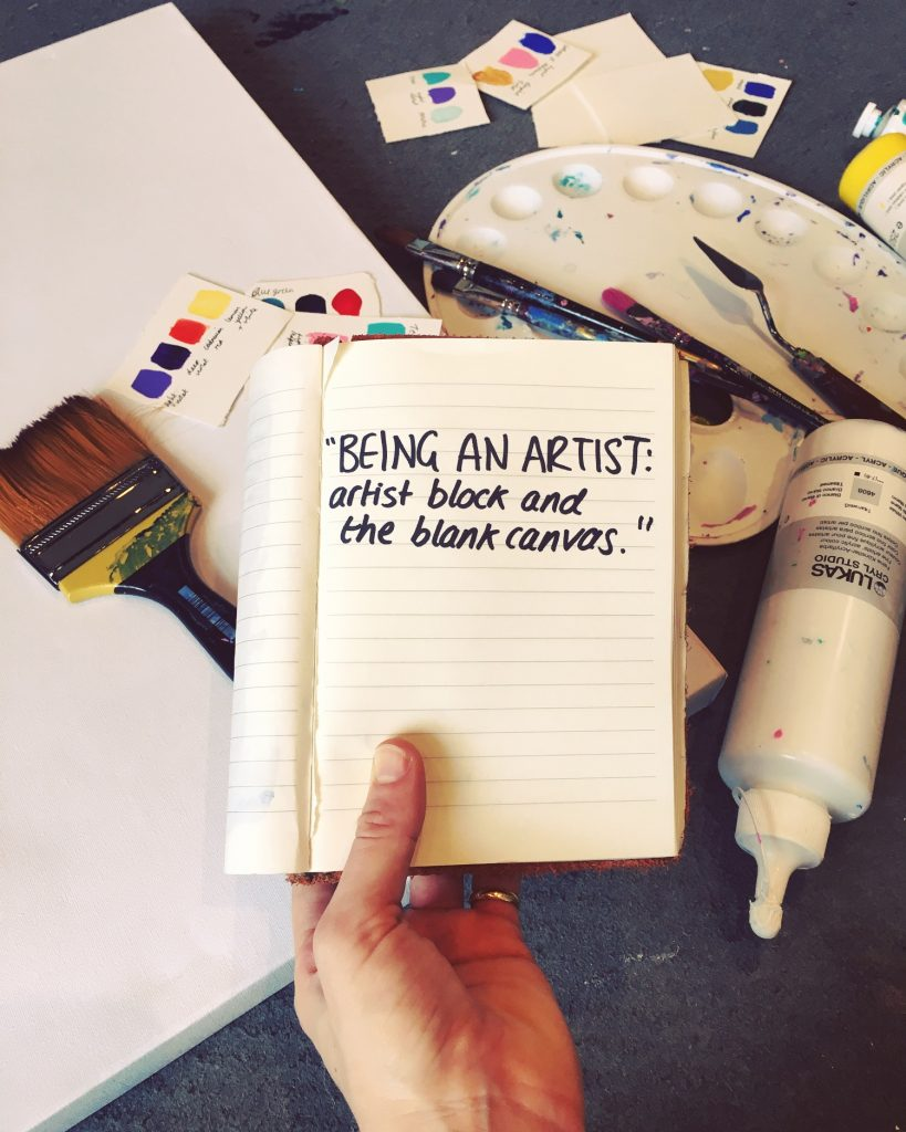 Being an artist: artist block and the blank canvas
