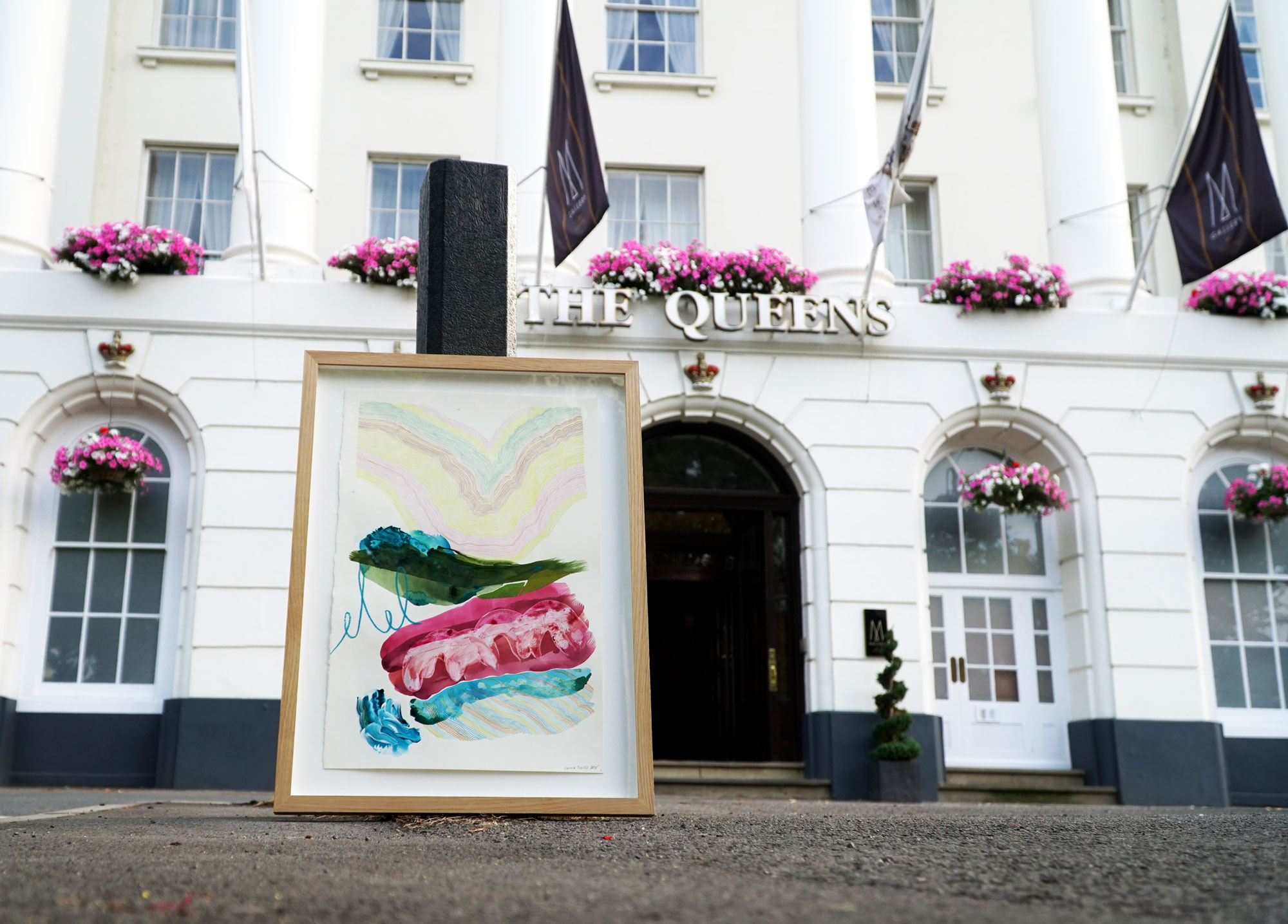 Queens Hotel and painting