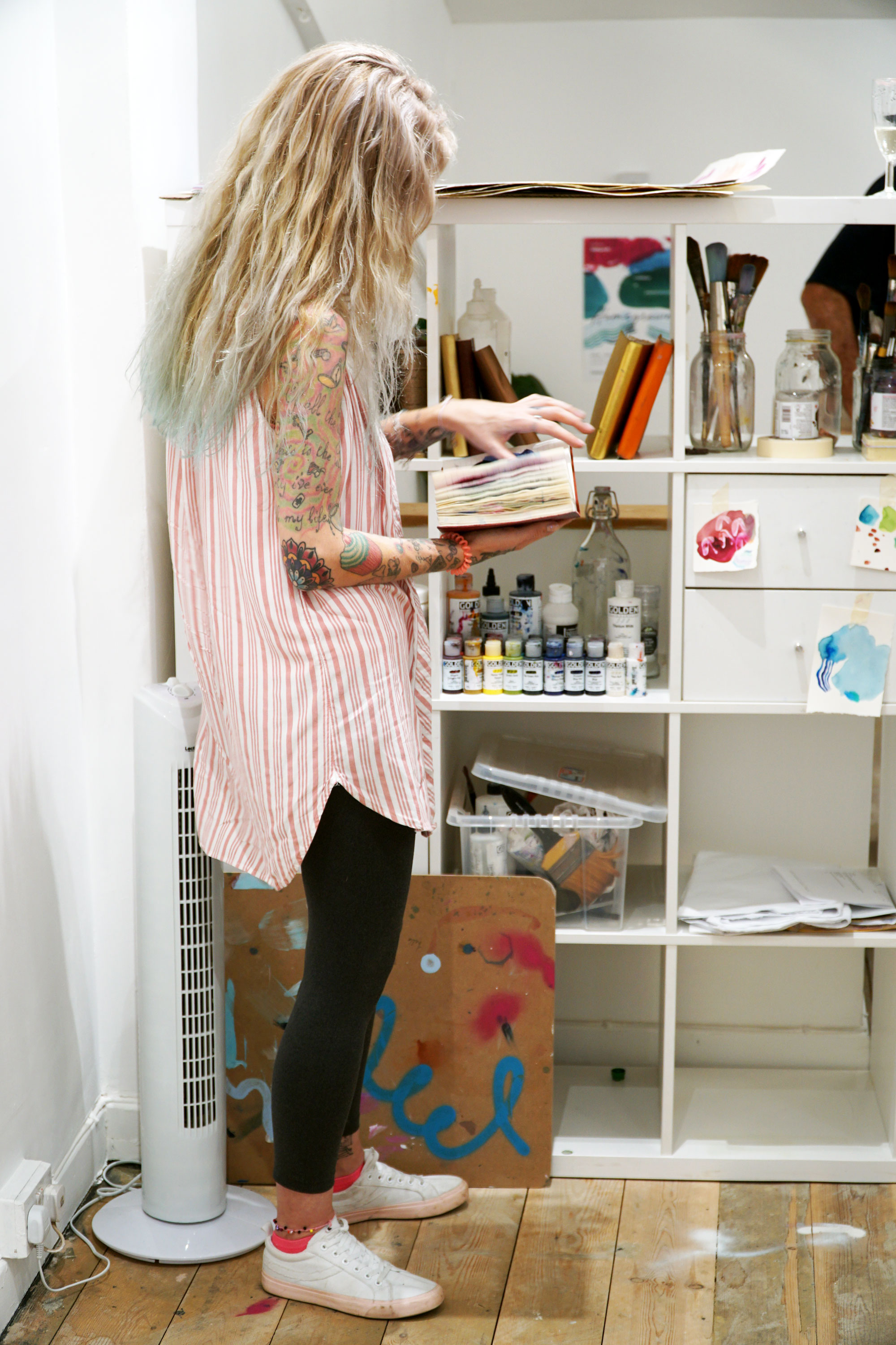 Heather-with-journals-in-studio