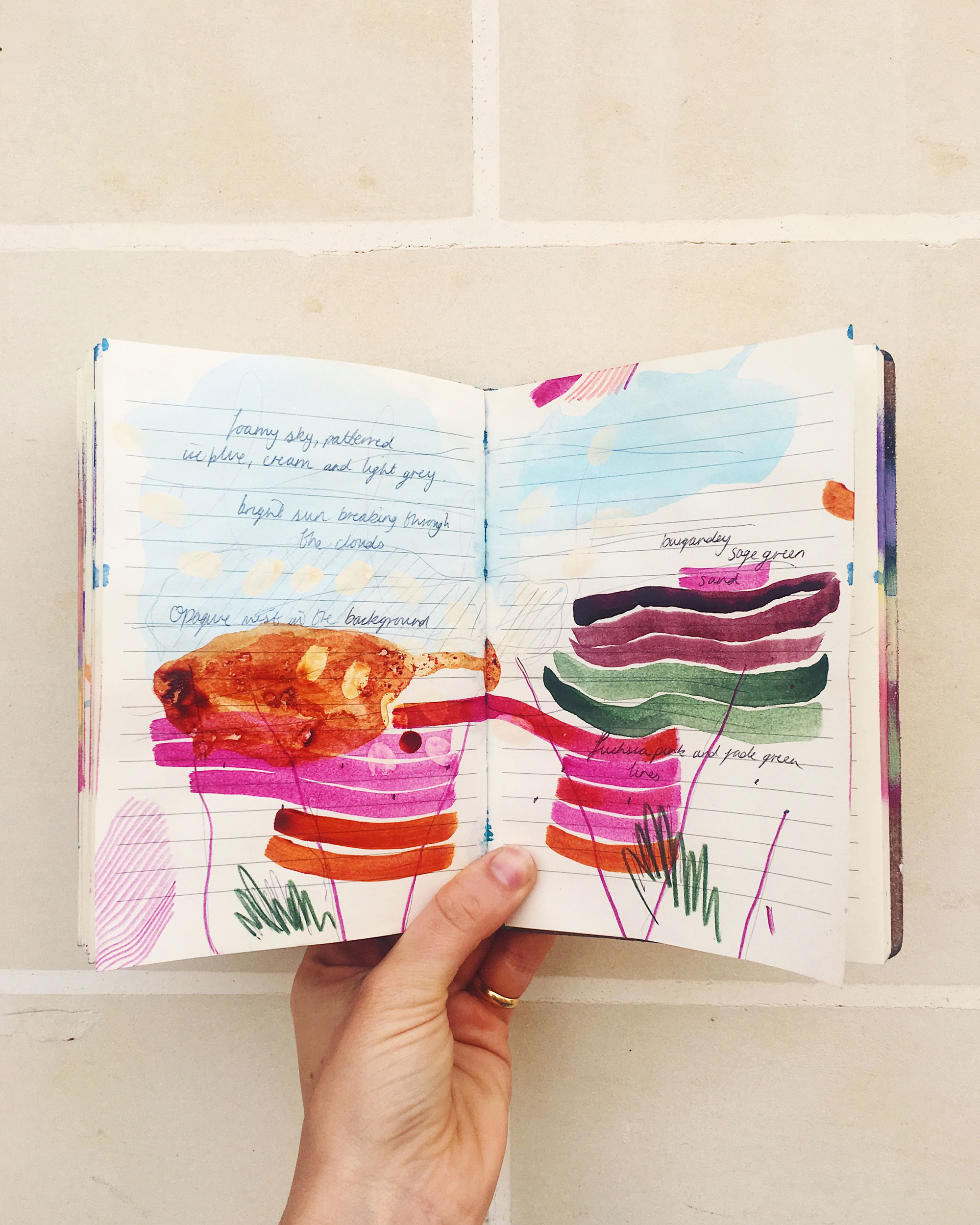 Abstract artist journal Emma Howell