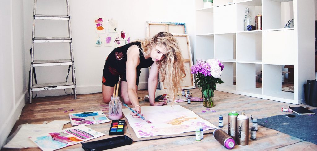Emma Howell in her studio