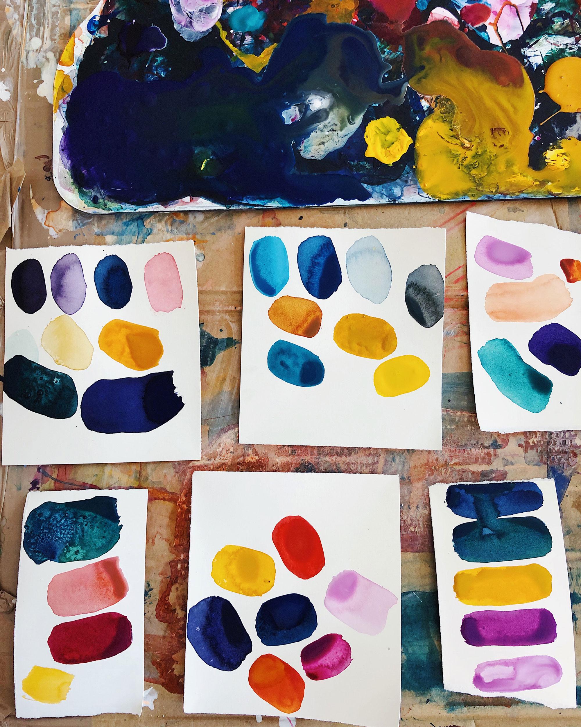 Emma Howell studies - painting