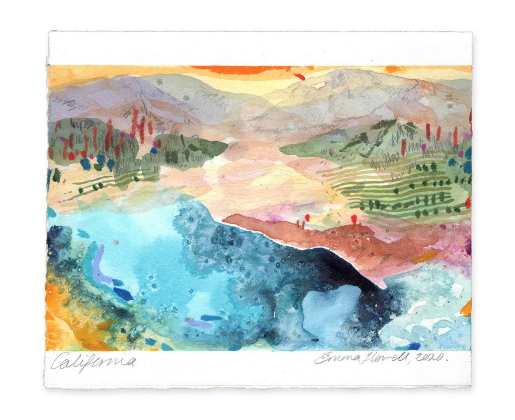 California landscape emma howell art