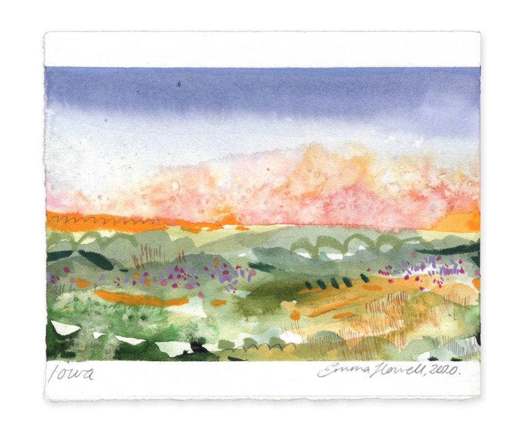 Iwoa landscape art emma howell