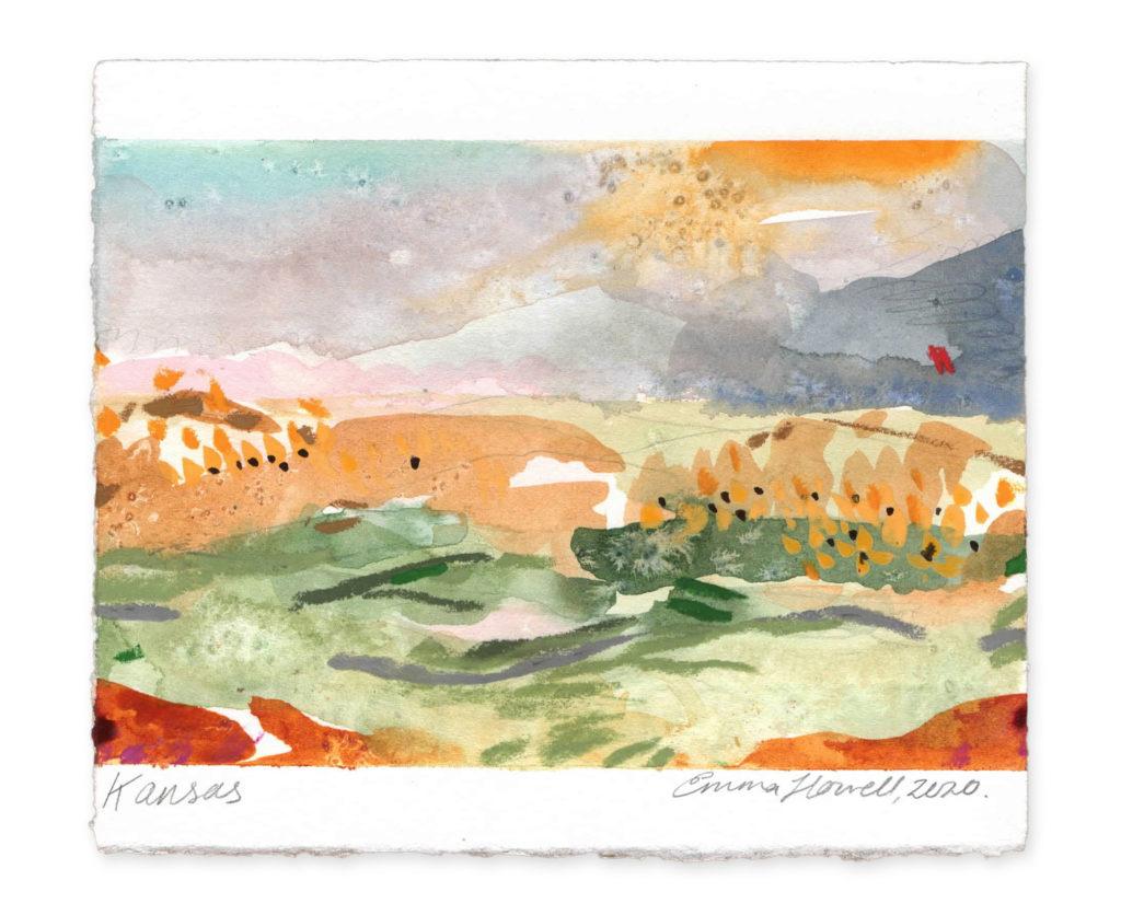 kansas landscape art emma howell