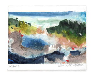Maine landscape art emma howell