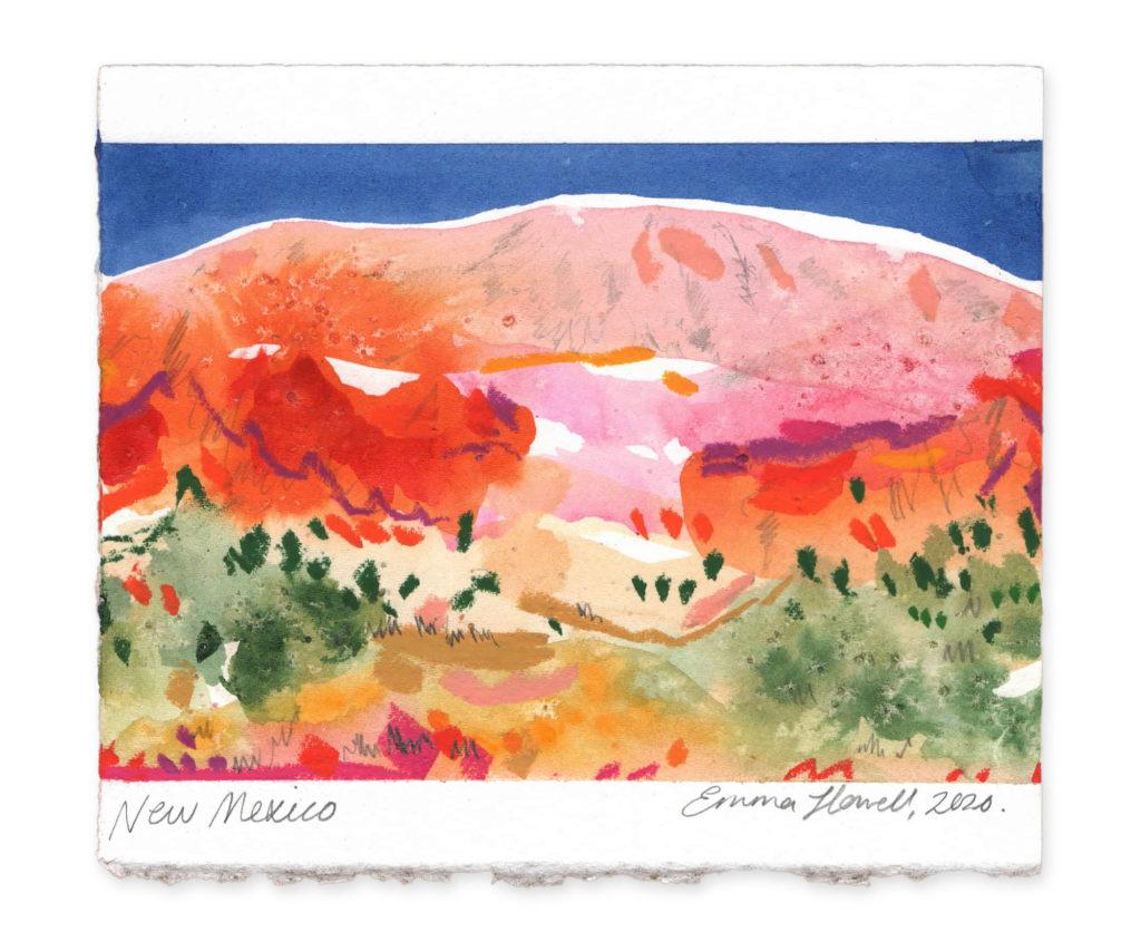 New Mexico landscape art emma howell