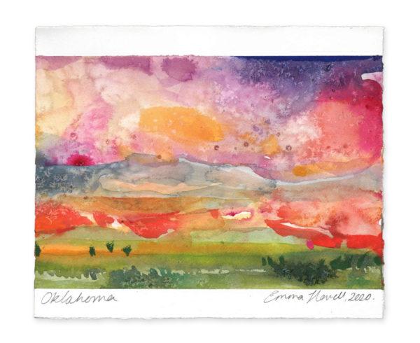 Oklahoma landscape art emma howell