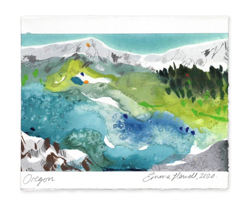 Oregon landscape art emma howell