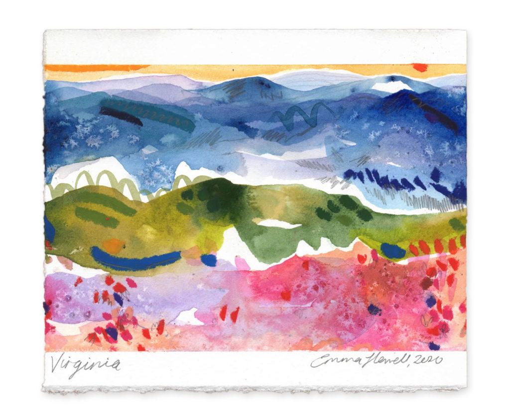 Virginia landscape art emma howell