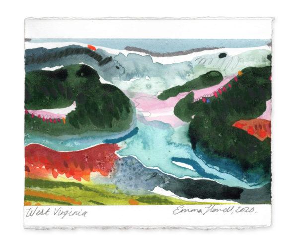 West Virginia landscape art emma howell