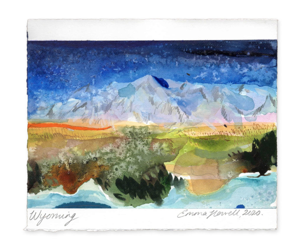 Wyoming landscape art emma howell
