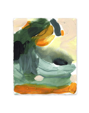 mango and cactus emma howell abstract painting