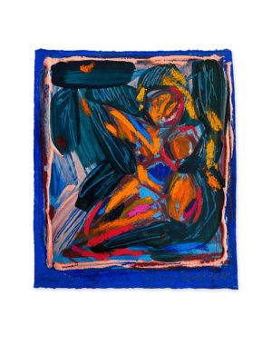 abstract colourful painting emma howell figure