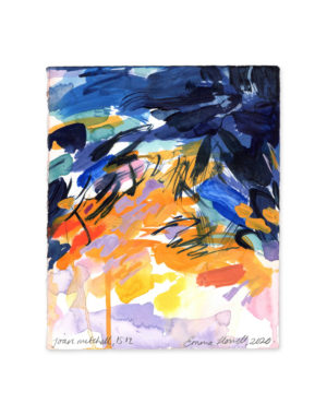 joan mitchell inspired abstract painting emma howell