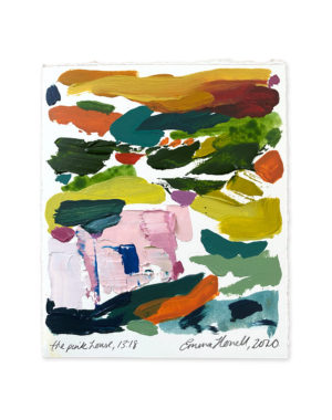 the pink house abstract painting emma howell