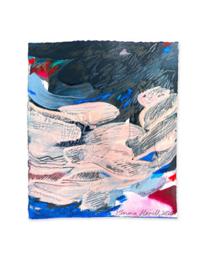 whale watching abstract painting emma howell