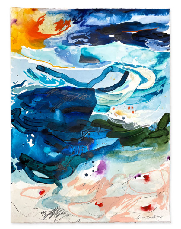 Colourful large painting on paper emma howell