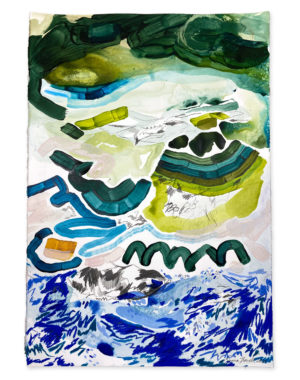 blue and green abstract painting emma howell
