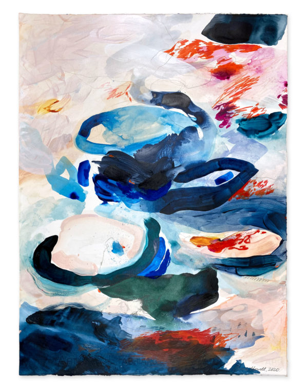 navy and red painting abstract emma howell