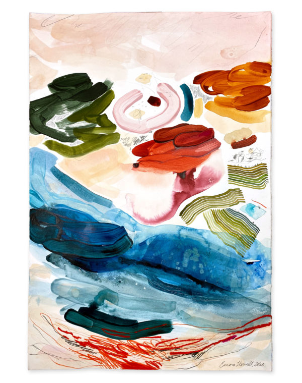 colourful painting emma howell abstract