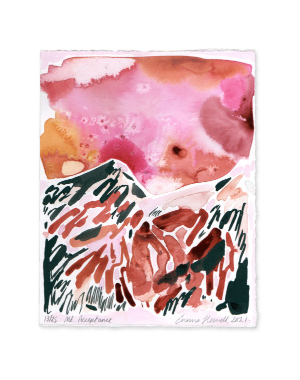pink and red mountain emma howell