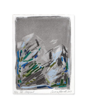 charcoal and pastel mountain emma howell