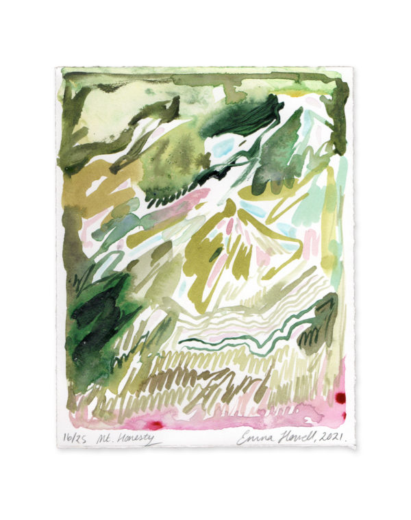 pink and green mountain emma howell