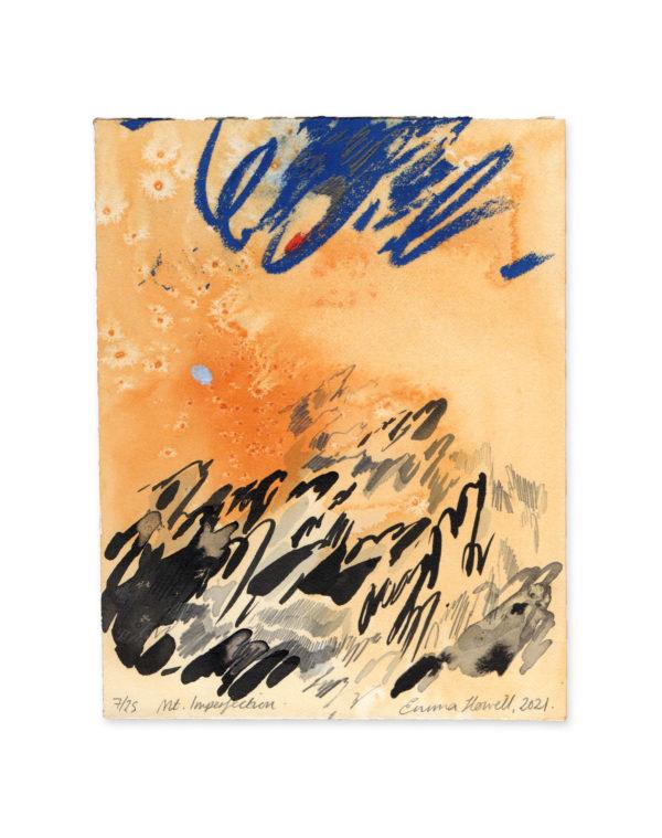 orange background mountain emma howell