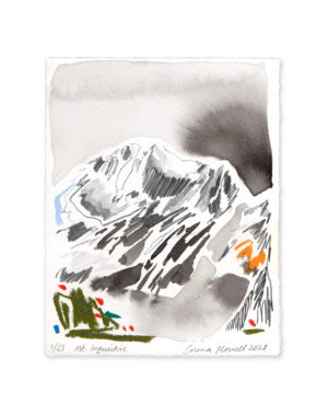 Mountain ink painting emma howell
