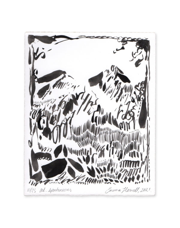 ink mountain black and white emma howell