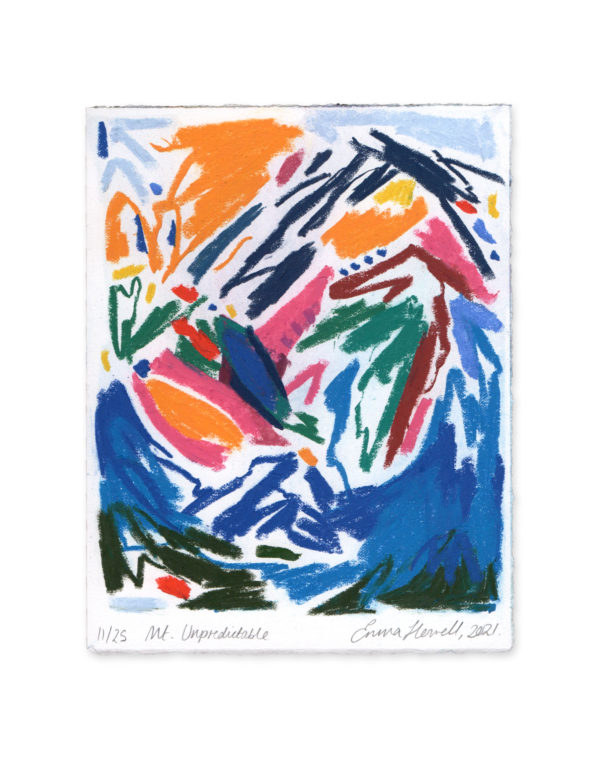 soft pastel mountain emma howell