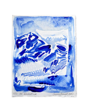 blue and white painting emma howell
