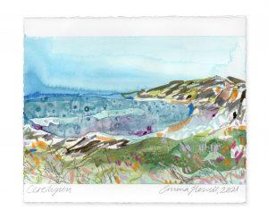 ceredigion landscape painting emma howell