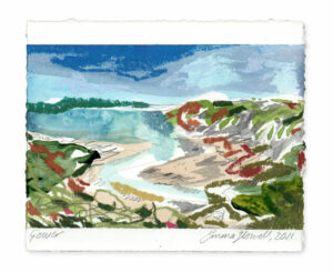 Gower landscape painting emma howell