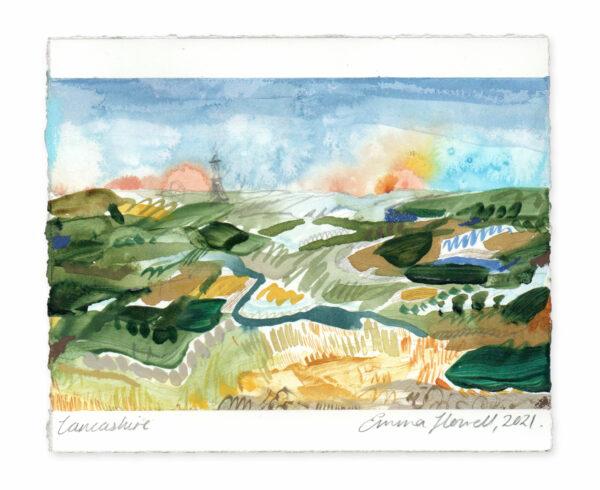 Lancashire landscape painting emma howell
