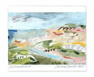 Northumberland landscape painting emma howell