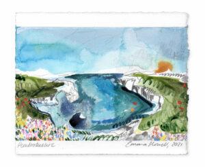 Pembrokeshire landscape painting emma howell