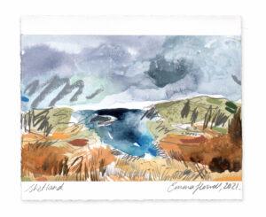 Shetland landscape painting emma howell