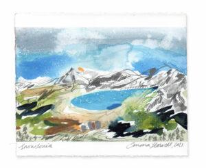 Snowdonia landscape painting emma howell