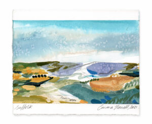 Suffolk landscape painting emma howell