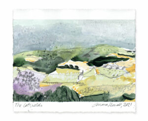 The Cotswolds landscape painting emma howell