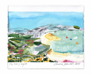 The Isle of Wight landscape painting emma howell