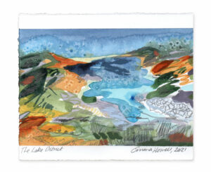 The Lake District landscape painting emma howell