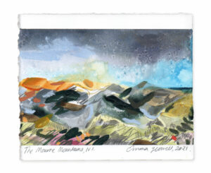 The Mourne Mountains landscape painting emma howell