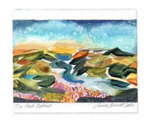 The Peak District landscape painting emma howell