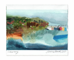 Tobermory landscape painting emma howell