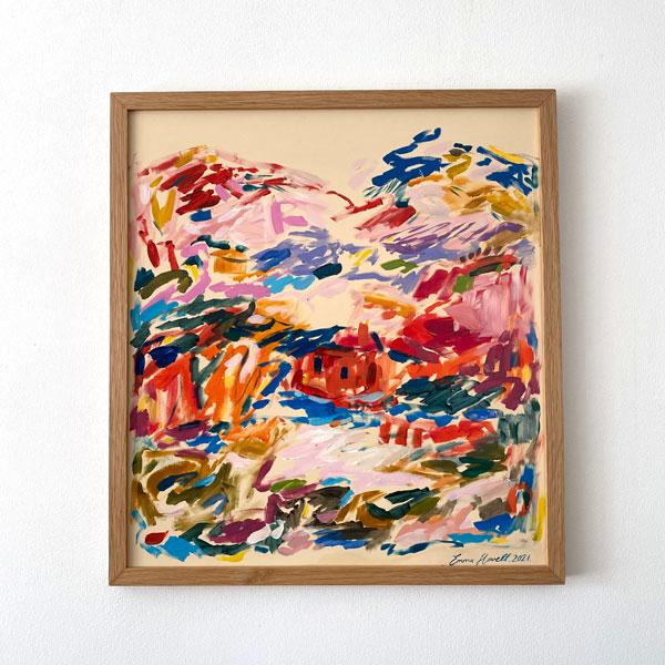framed oak emma howell red house painting
