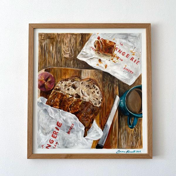 bakery painting emma howell framed
