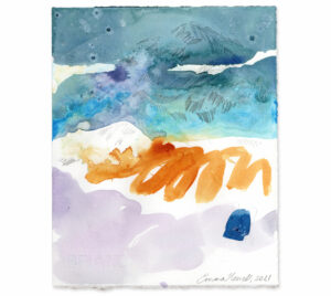 mountain blue painting emma howell raw honey